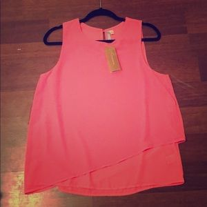 Francesca's- New with tags Pink Shell top